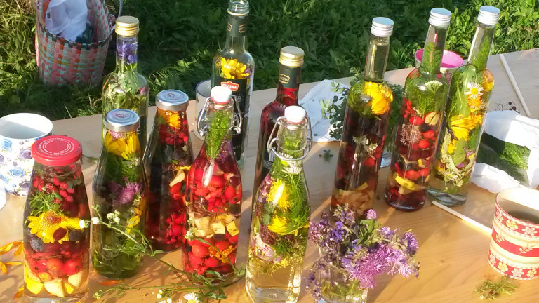 Der Erhalt unserer Natur ist uns wichtig: Leckeres aus Früchten, Kräuter und Blüten direkt vor unserer Haustüre, Brunnthal Juli 2020
