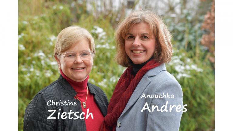 Christine Zietsch und Anouchka Andres